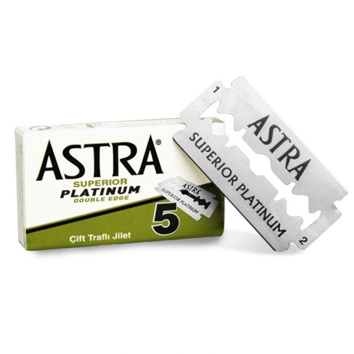 5 lame de bărbierit Astra verzi superior platinum