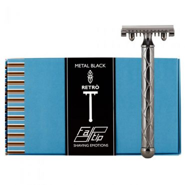 Fatip 42117 aparat de ras metal black retro (pieptăn deschis-open comb)