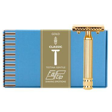 Fatip 42124 aparat de ras grande (mare) gold classic testina gentile (pieptăn închis-closet comb)