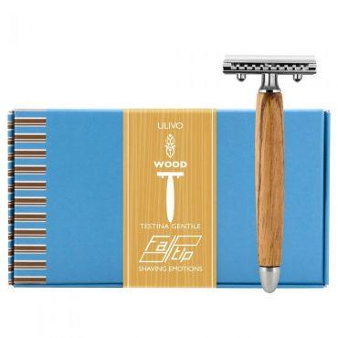 Fatip 42131 aparat de ras din lemn de măslin testina gentile (pieptăn închis-closet comb)