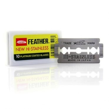 10 Lame de barbierit Feather New Hi Stainless