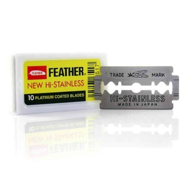 10 Lame de barbierit Feather New Hi Stainless